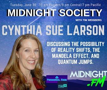 Cynthia Sue Larson with Tim Weisberg on The Midnight Society