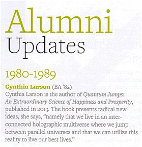 Cynthia Sue Larson in Physics at Berkeley