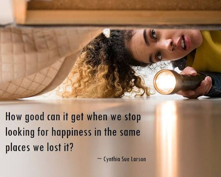 Looking for happiness quote