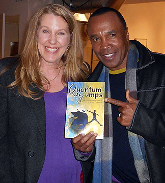 Cynthia Sue Larson with Sugar Ray Leonard