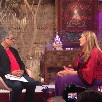 Cynthia Sue Larson with Deepak Chopra
