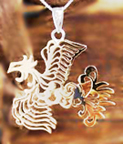 Japanese Phoenix Pendant