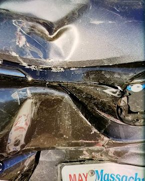 crashed car heart