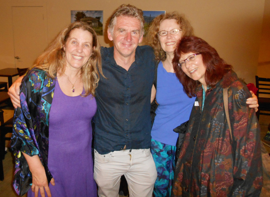 "Cynthia Sue Larson, Seán Ó Nualláin, Beverly Rubik, and Maria Syldona at Foundations of Mind 2 reception""></a><br><font size=""3"